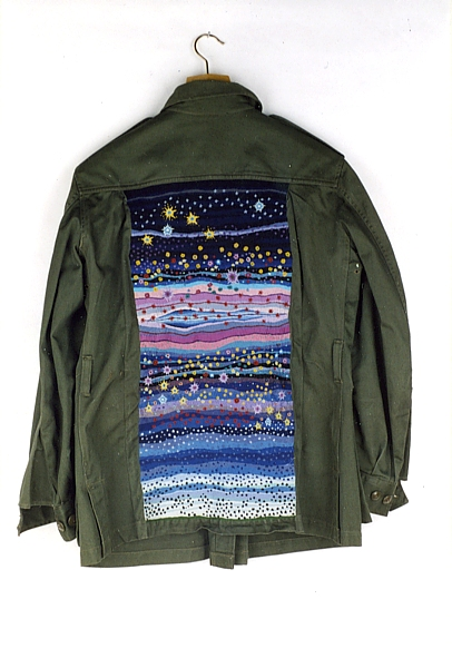2. Night Sky, Embroidered Military Jacket, 2001  by Richard Preston